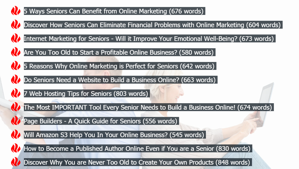 2018 08 30 0816 - Review of 'Online Marketing for Seniors PLR Package', OTOs, and Bonuses Included