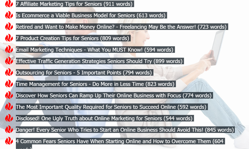 2018 08 30 0817 - Review of 'Online Marketing for Seniors PLR Package', OTOs, and Bonuses Included